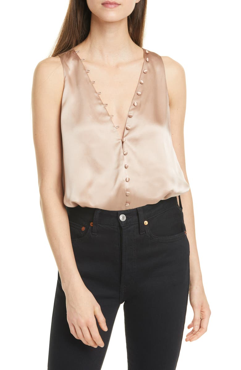 CAMI NYC The Lorna Silk Satin Bodysuit, Main, color, ROSE DUST