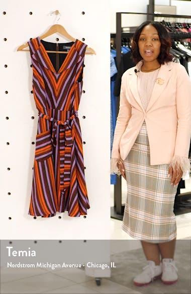 Stripe Sleeveless Fit & Flare Dress, sales video thumbnail