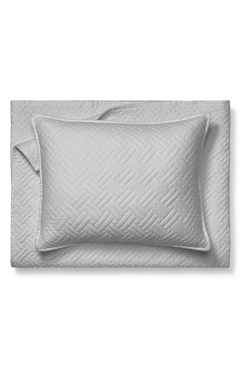 BOLL & BRANCH Heritage Quilt & Shams, Main, color, PEWTER