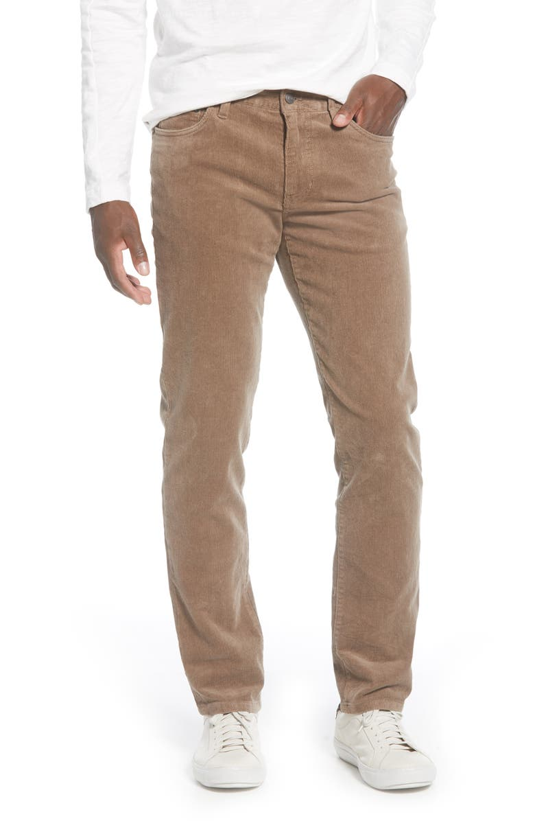1901 Slim Fit Corduroy Five-Pocket Pants, Main, color, BROWN SHITAKE