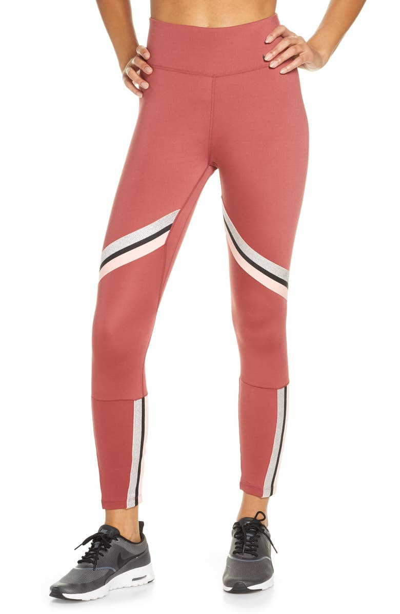 NIKE Rebel Icon Class Dri-FIT Fleece Training Pants, Main, color, CEDAR/ METALLIC SILVER/ BLACK