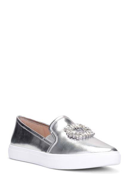 Image of Donald Pliner Pammy Leather Slip-On Sneaker