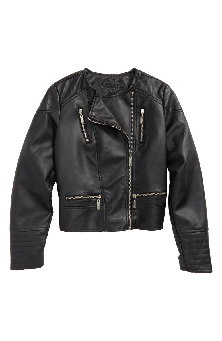 c0a1b2512 Faux Leather Moto Jacket