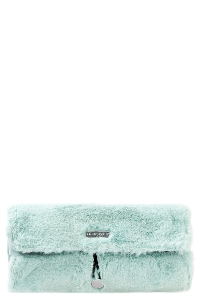 SKINNYDIP Icy Faux Fur Brush Roll, Main, color, 000