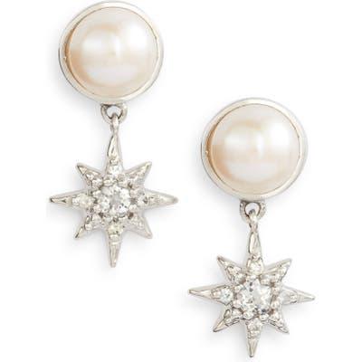 Anzie Micro Starburst Mabe Pearl & Topaz Drop Earrings