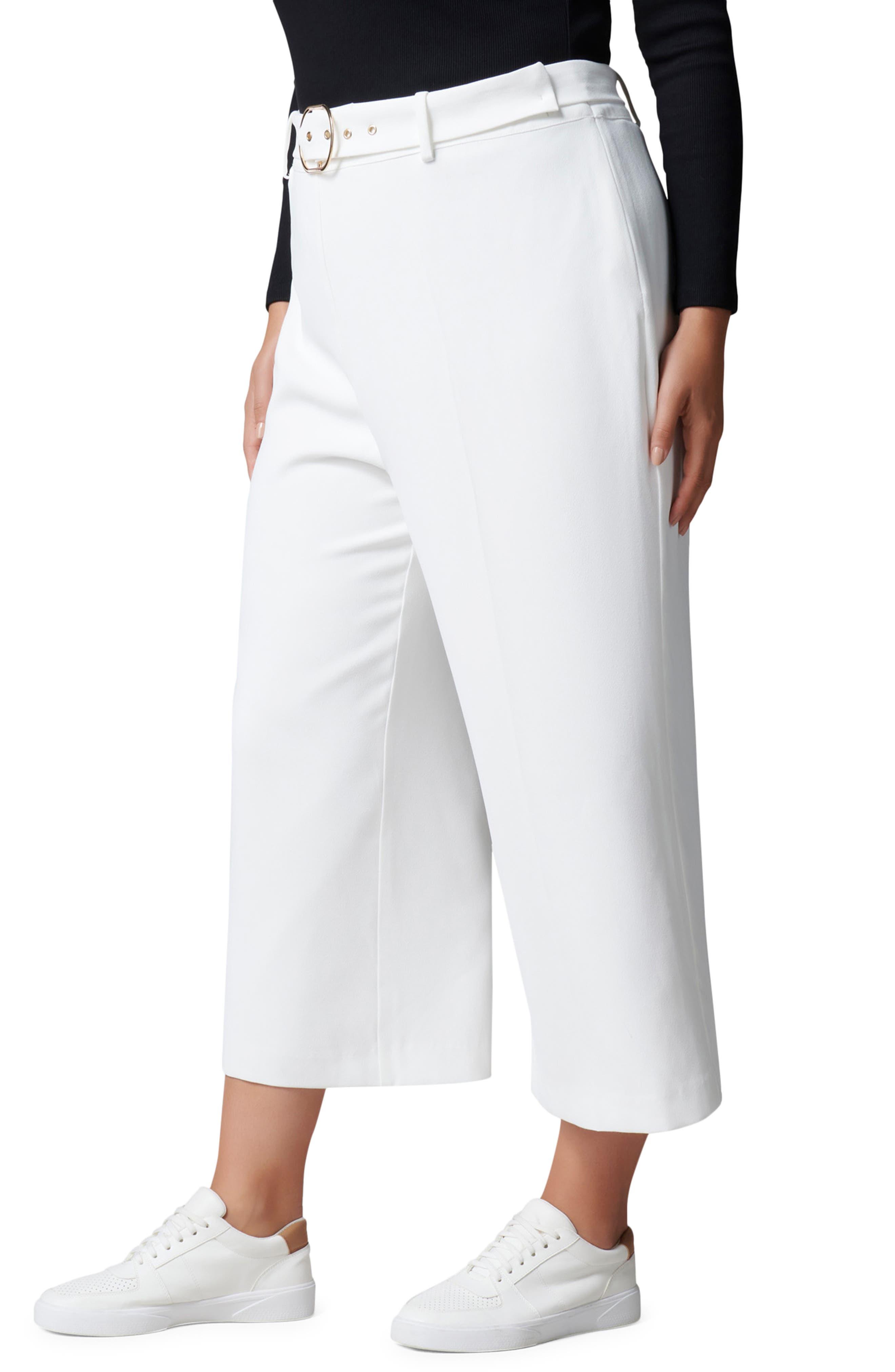 Biance Belted Crop Wide Leg Pants
