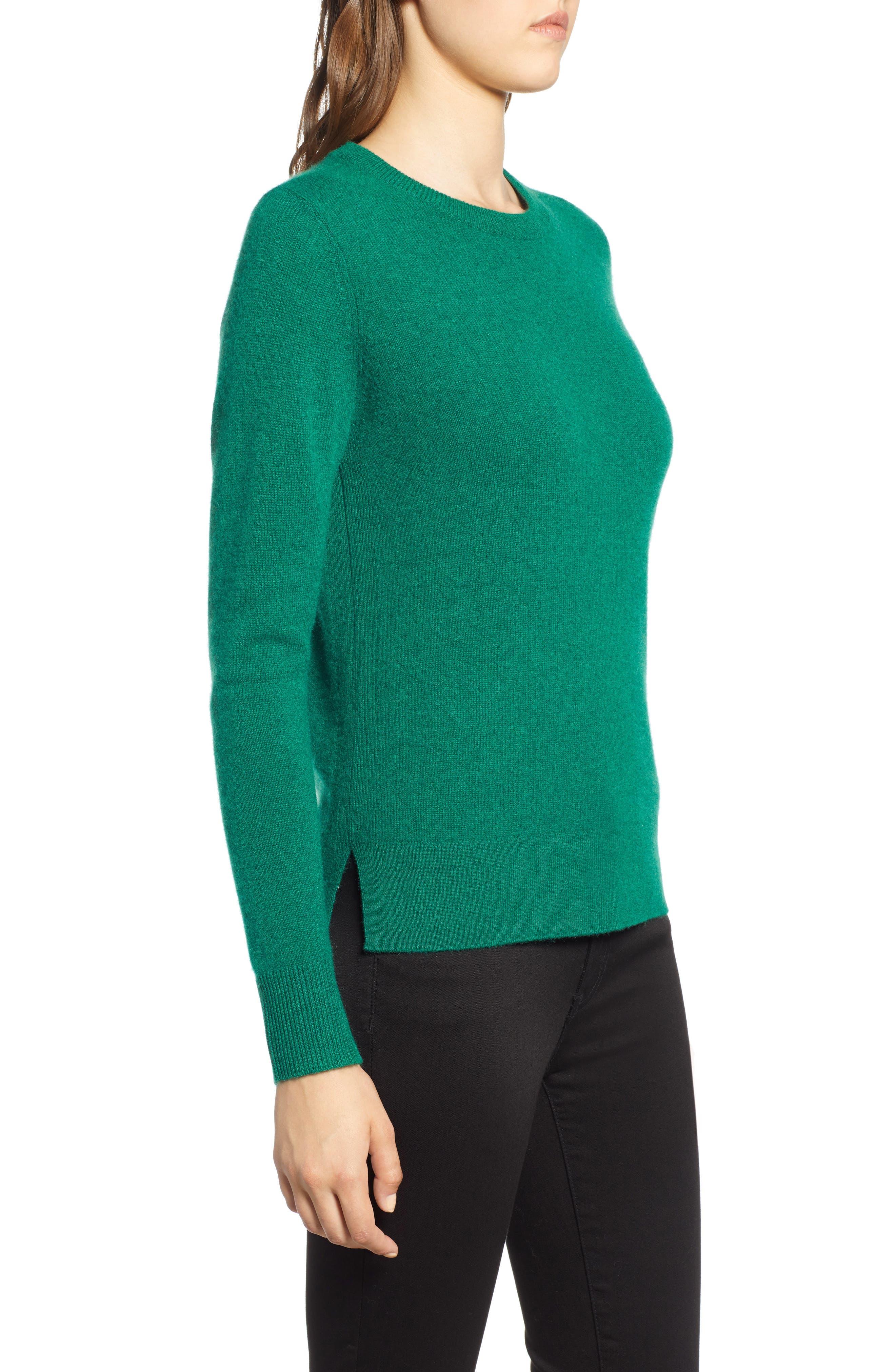 ,                             Crewneck Cashmere Sweater,                             Alternate thumbnail 84, color,                             301