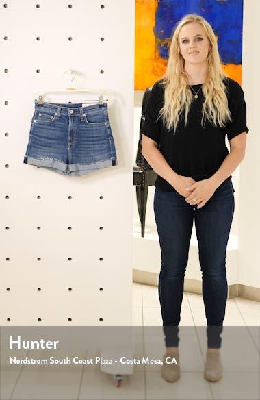 Nina High Waist Denim Cutoff Shorts, sales video thumbnail