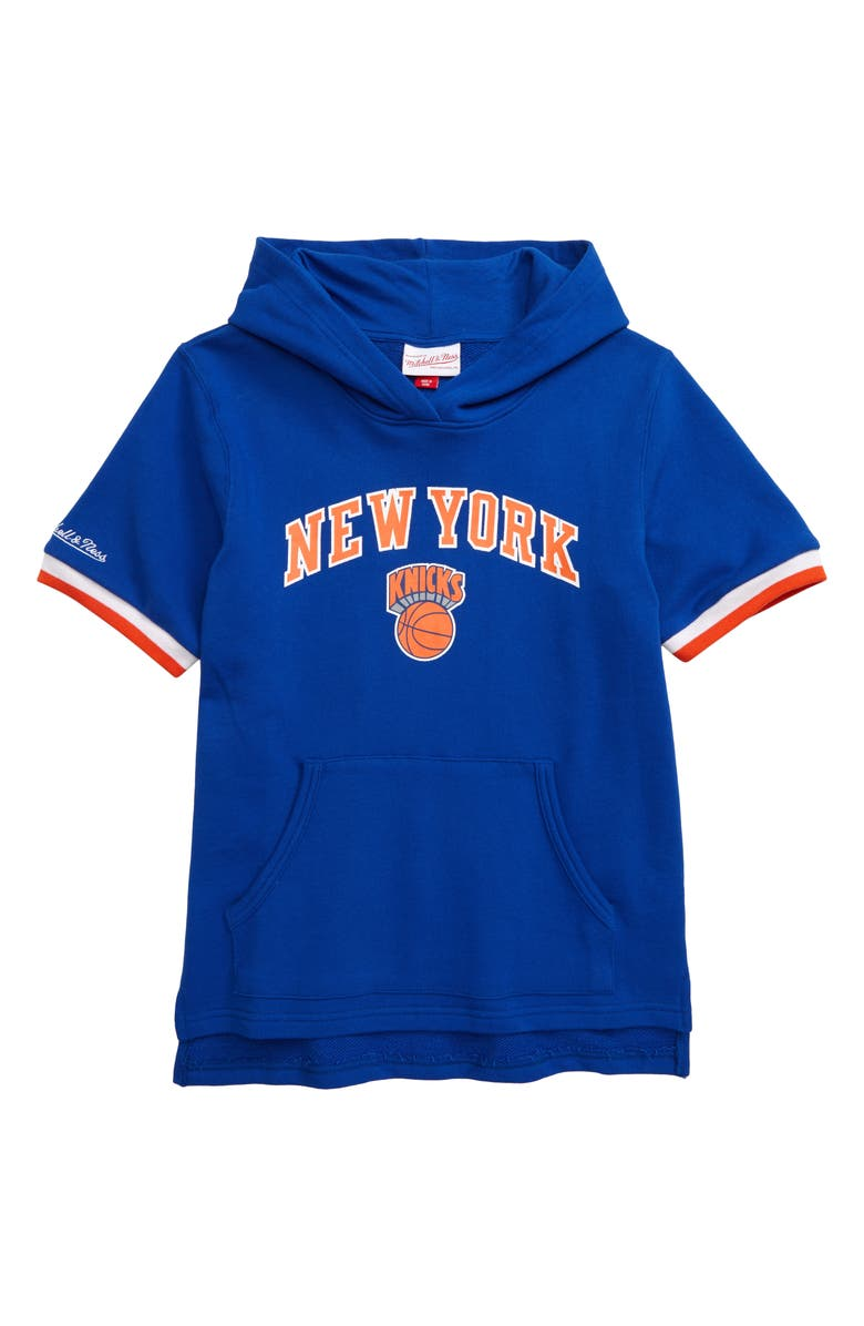 MITCHELL & NESS New York Knicks French Terry Hoodie, Main, color, BLUE