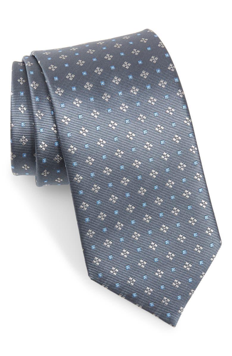 Medallion Silk Tie by David Donahue