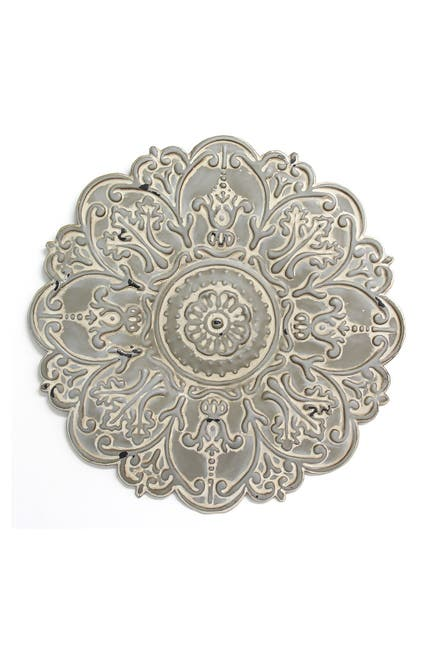 Image of Stratton Home Grey Small Grey Medallion Wall Decor