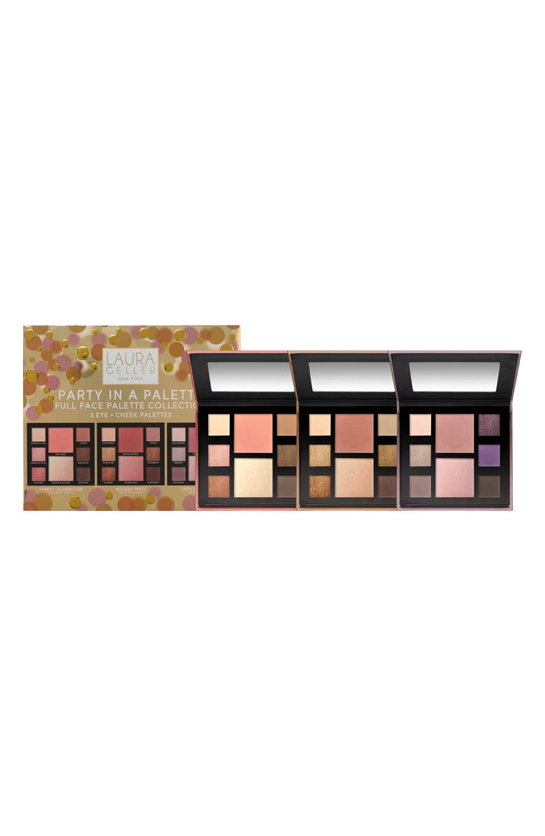 LAURA GELLER BEAUTY Party in a Palette Eyeshadow, Blush & Highlighter Palette Trio, Main, color, NO COLOR