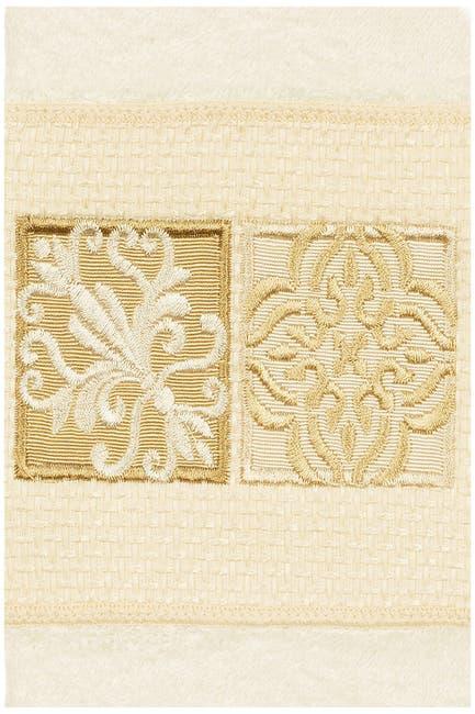 Image of LINUM HOME Vivian Embellished Hand Towel - Cream