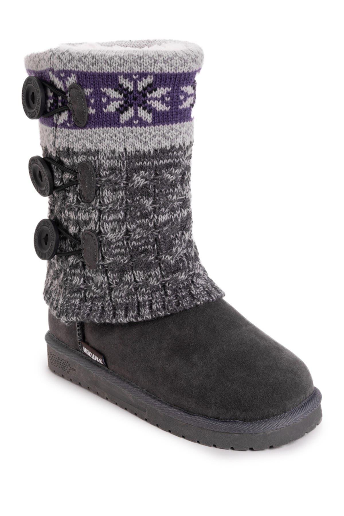 MUK LUKS | Cheryl Faux Fur Knit Boot