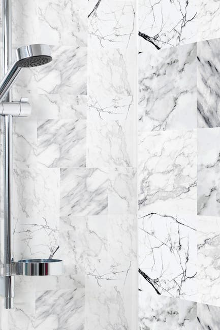Image of WalPlus Bathroom Kitchen Marble Wall Tile Stickers Mix