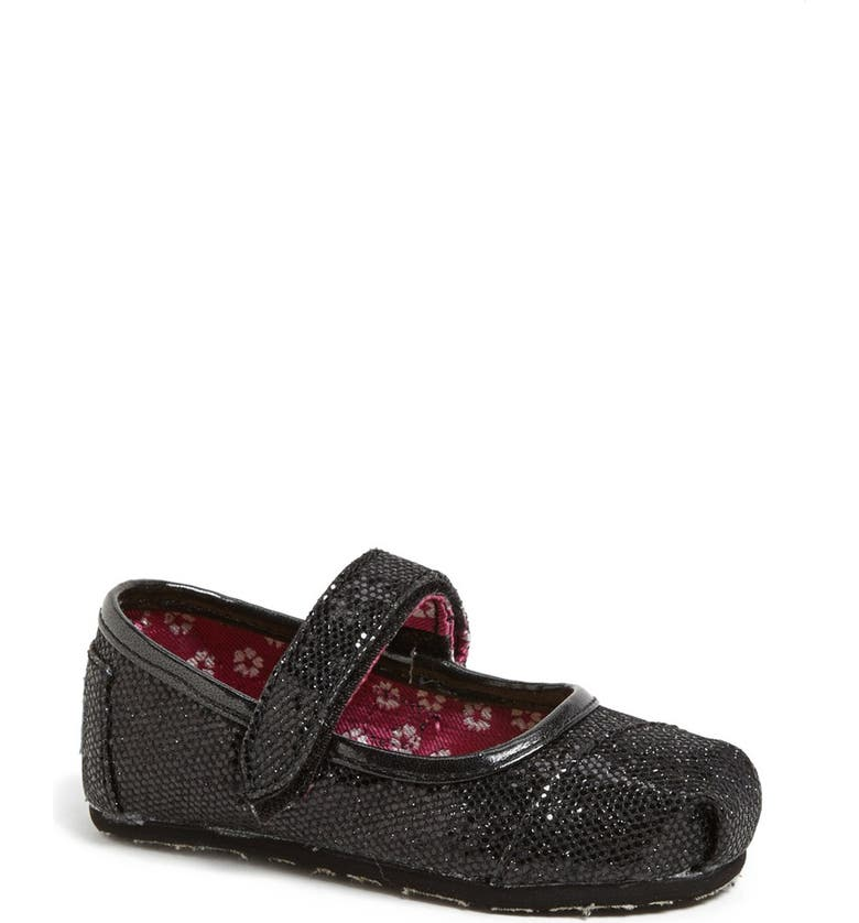 TOMS 'Glitters - Tiny' Mary Jane Flat, Main, color, 001