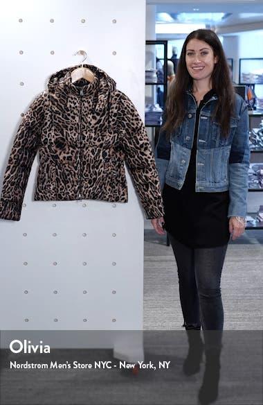 Leopard Print Down Jacket, sales video thumbnail