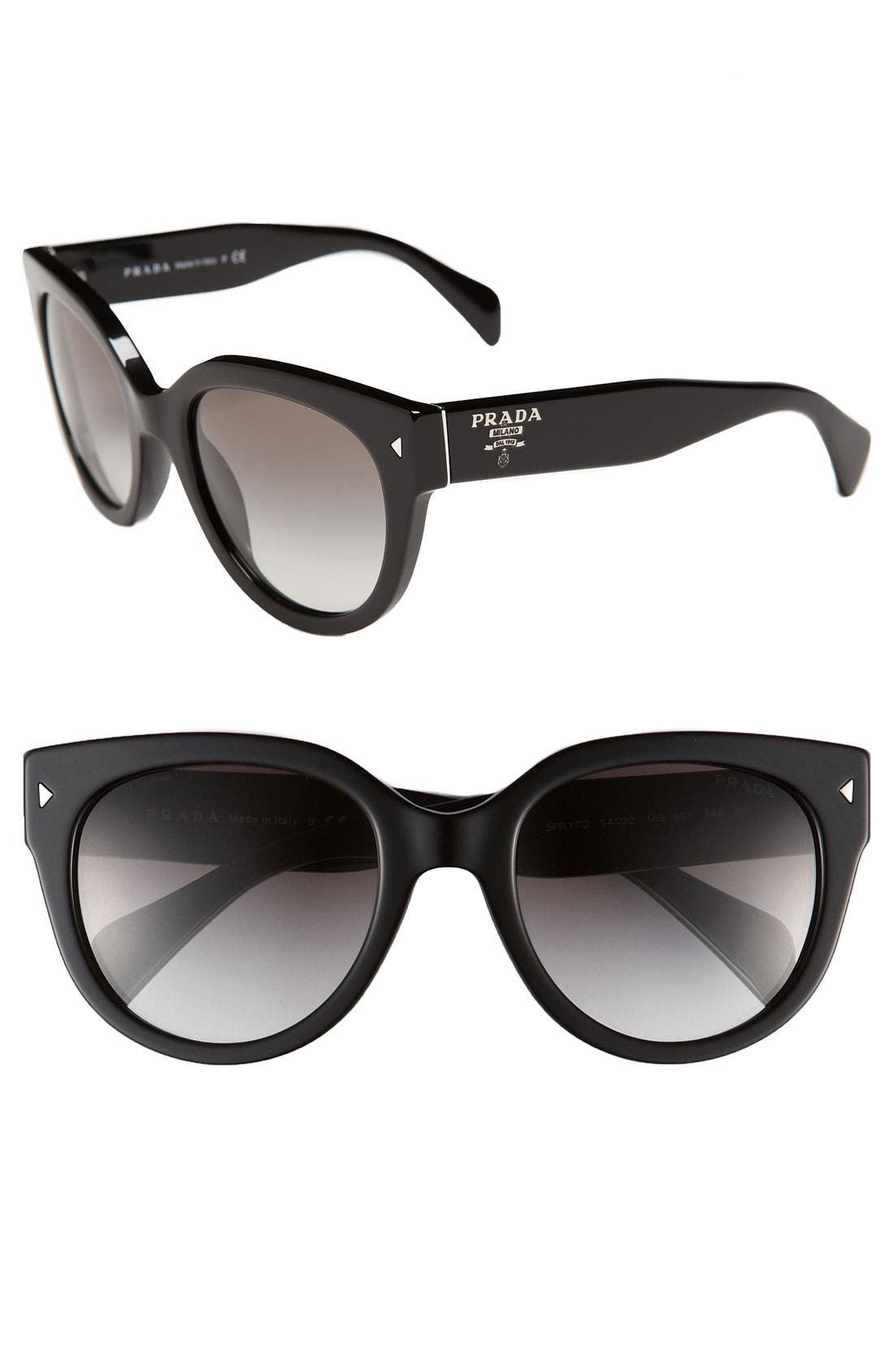 ,                             54mm Cat Eye Sunglasses,                             Main thumbnail 2, color,                             001