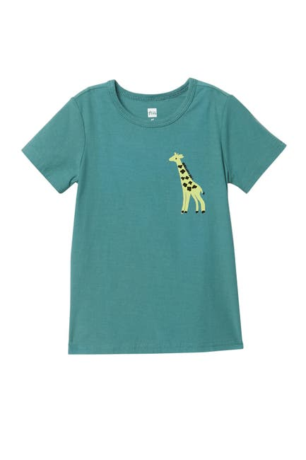 Image of Tea Collection Giraffe Calf Baby Print T-Shirt