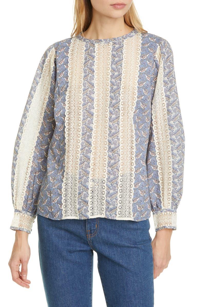 LA VIE REBECCA TAYLOR Woodblock Lace Top, Main, color, 900