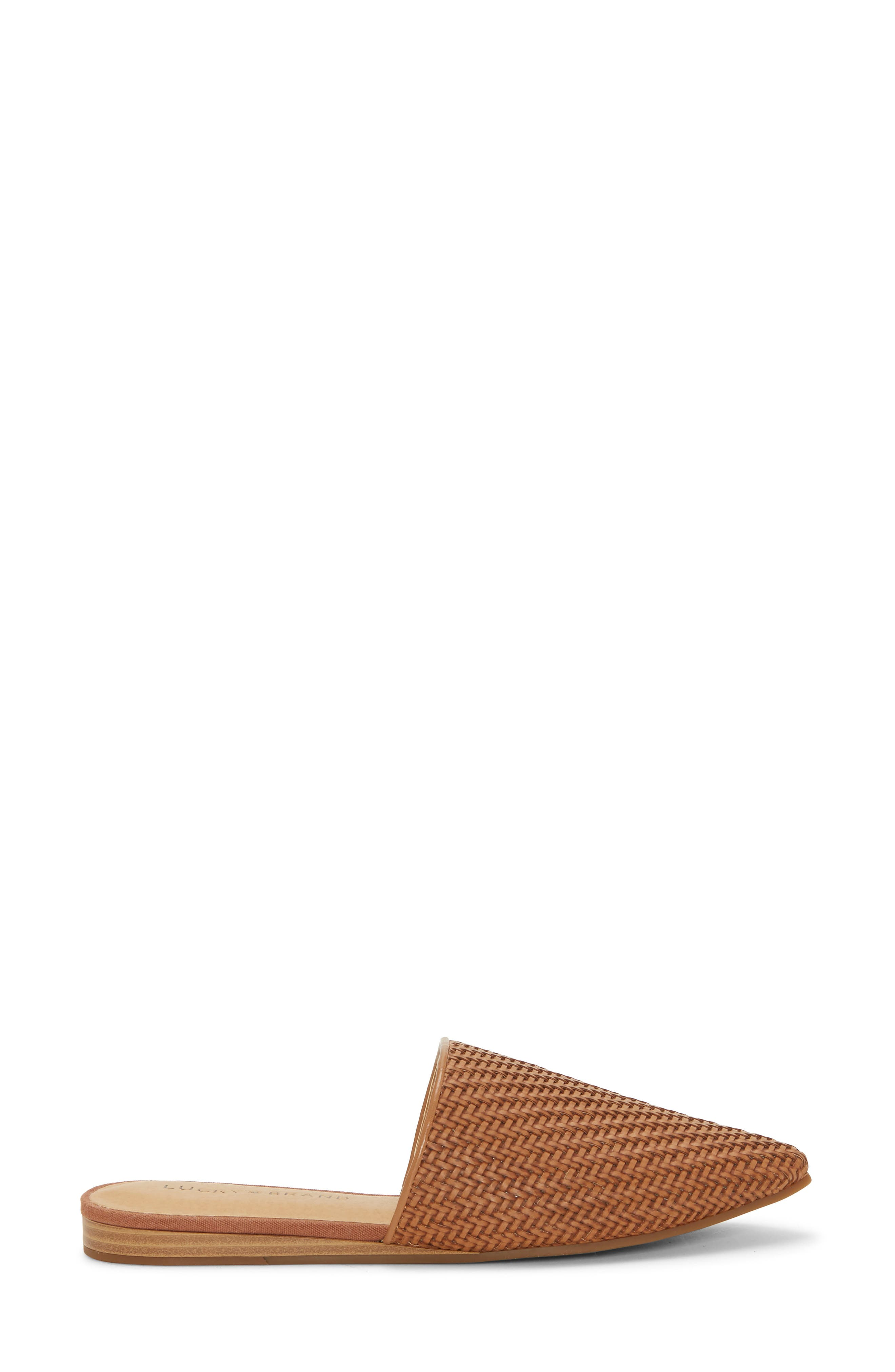 ,                             Bradell Pointy Toe Mule,                             Alternate thumbnail 3, color,                             UMBER LEATHER