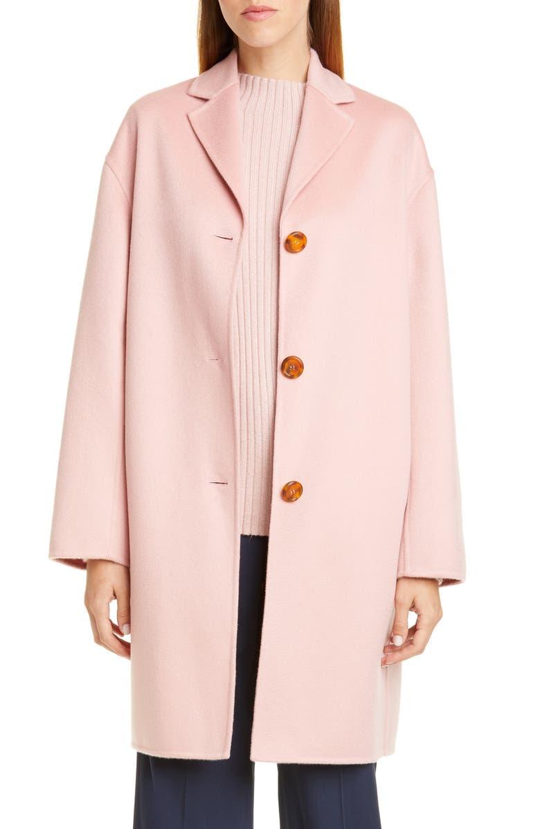 MANSUR GAVRIEL Classic Double Face Cashmere Coat, Main, color, 650