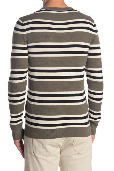 Image of Michael Kors Stripe Crew Neck Sweater