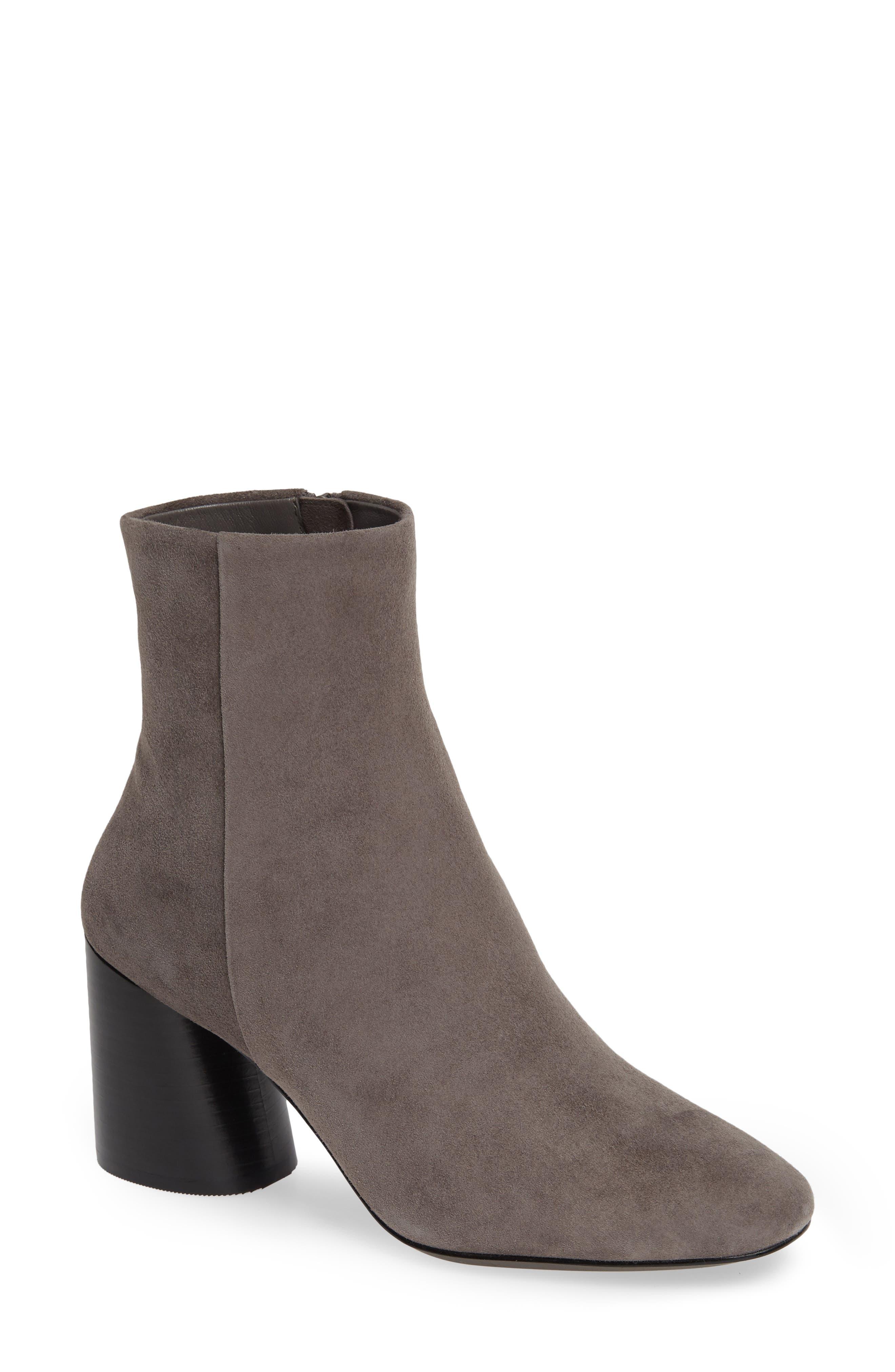 Linea Paolo Savvy Block Heel Bootie- Grey