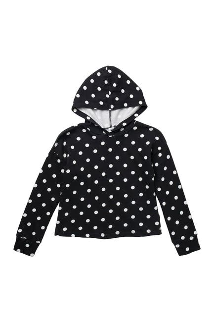 Image of Harper Canyon Fleece Polka Dot Printed Pullover Hoodie
