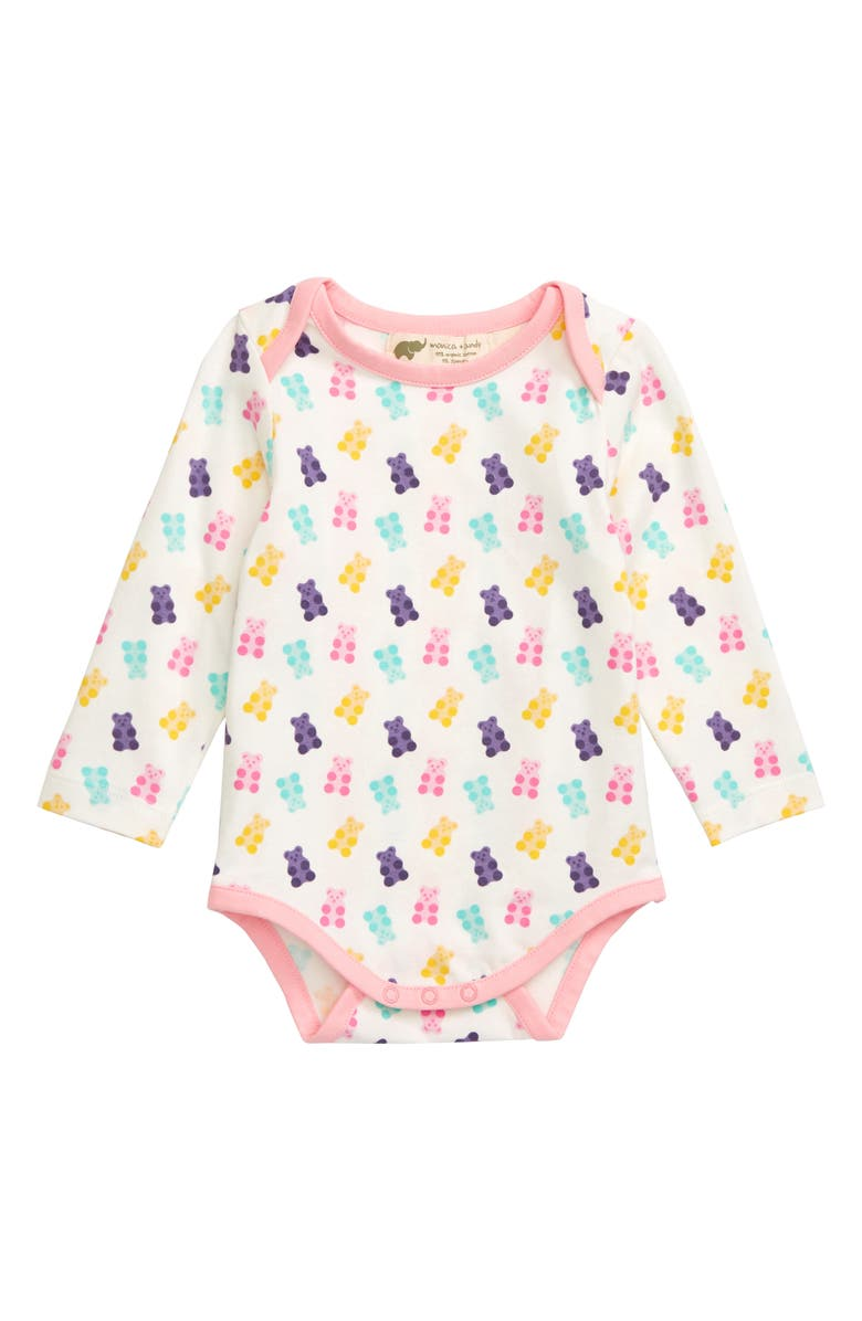 MONICA + ANDY Jack & Jill Bodysuit, Main, color, PINK