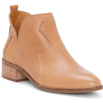 Lucky Brand Leymon Western Bootie, Brown