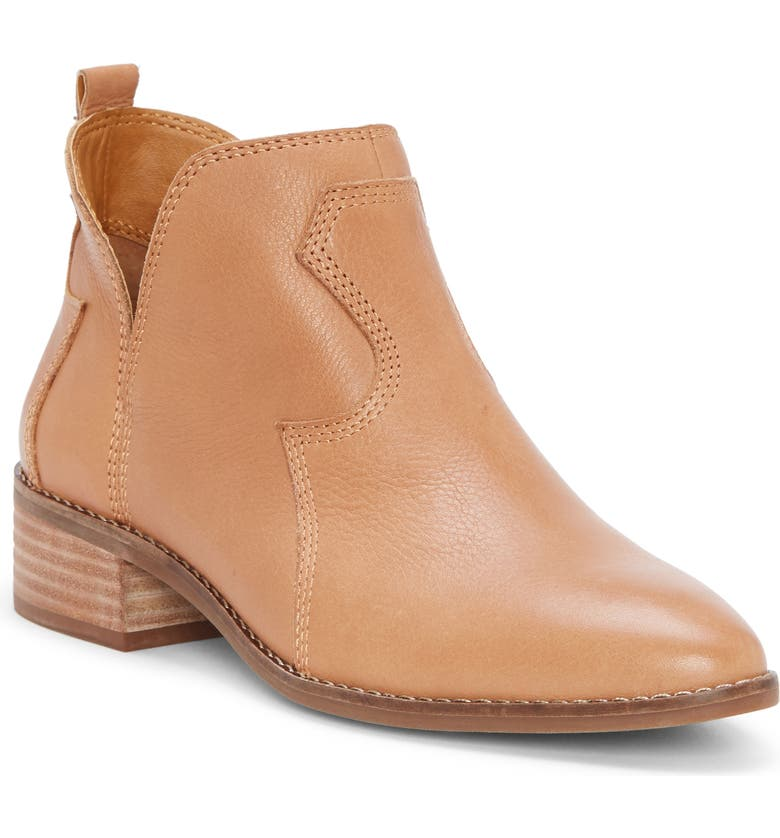 LUCKY BRAND Leymon Western Bootie, Main, color, LATTE LEATHER