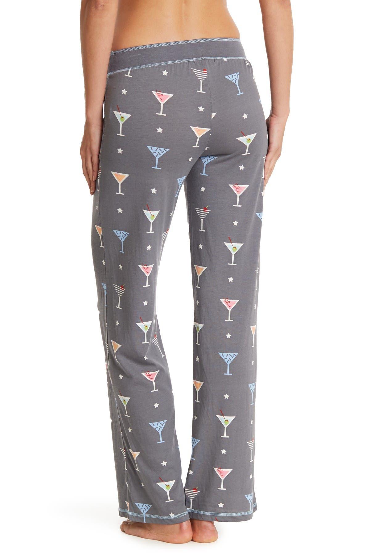 PJ SALVAGE Cocktails Print Pajama Pants