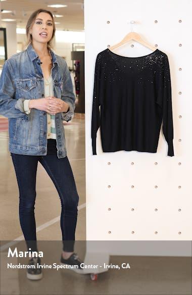 Crystal Embellished V-Back Cotton Blend Sweater, sales video thumbnail