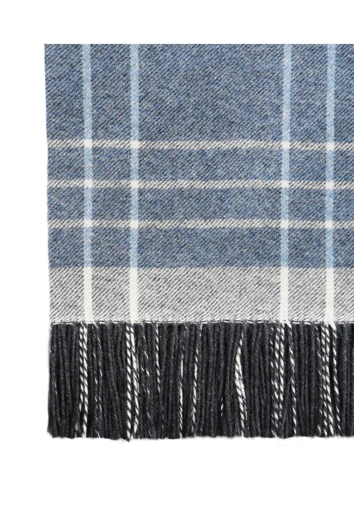 Image of Melange Home Italian Wool Blend Throw - Blue