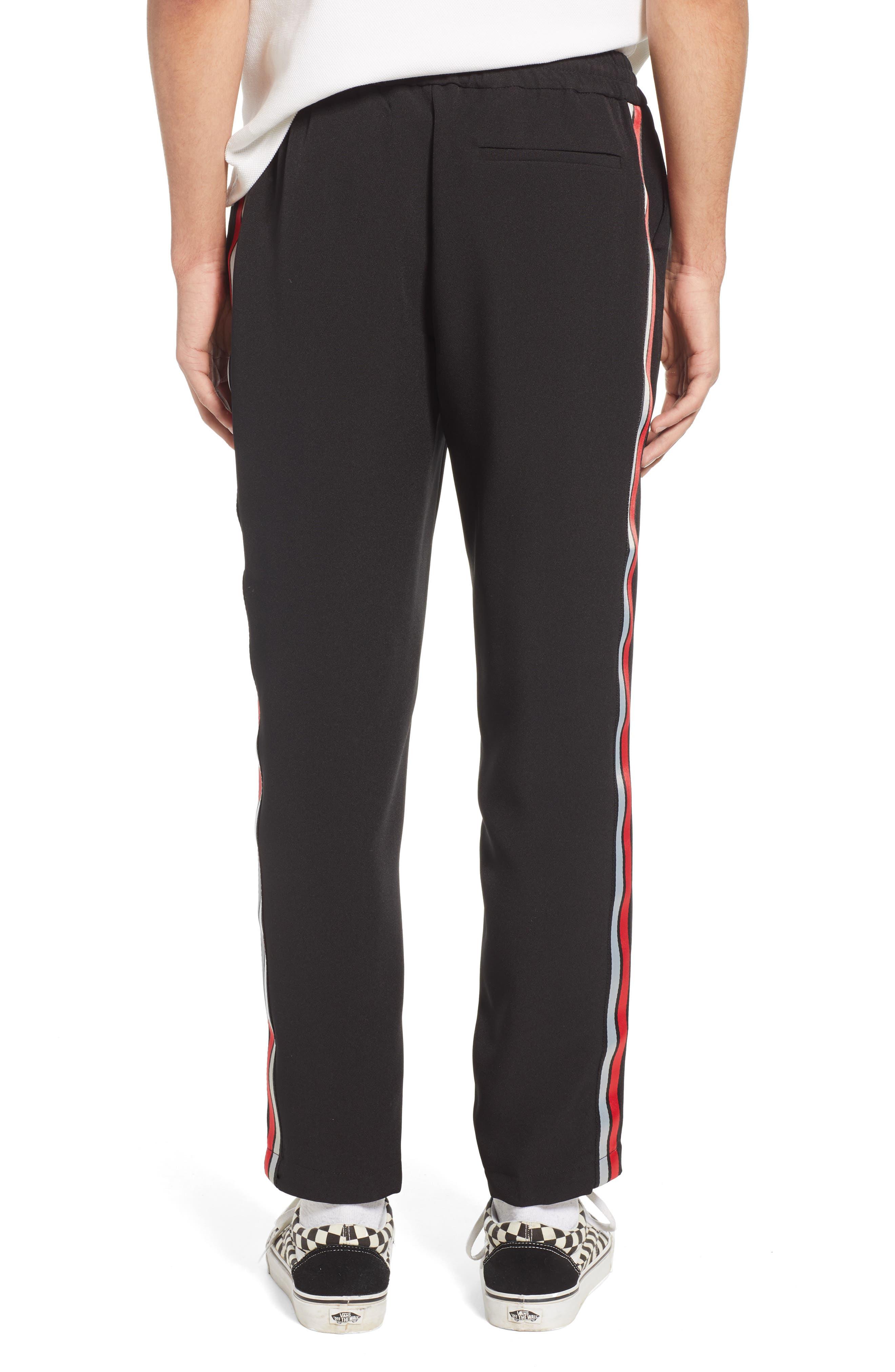,                             Classic Fit Side Stripe Cropped Jogger Pants,                             Alternate thumbnail 2, color,                             BLACK