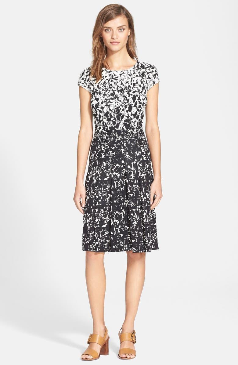 TORY BURCH 'Sophia' Print A-Line Dress, Main, color, 007