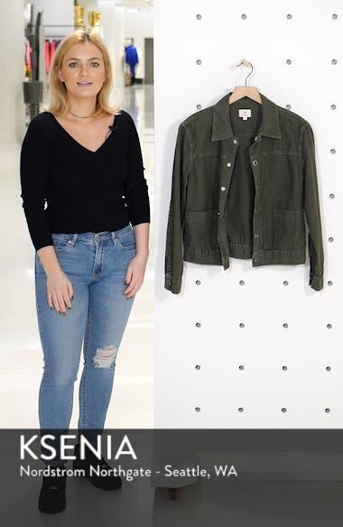 Eliette Linen & Cotton Crop Trucker Jacket, sales video thumbnail