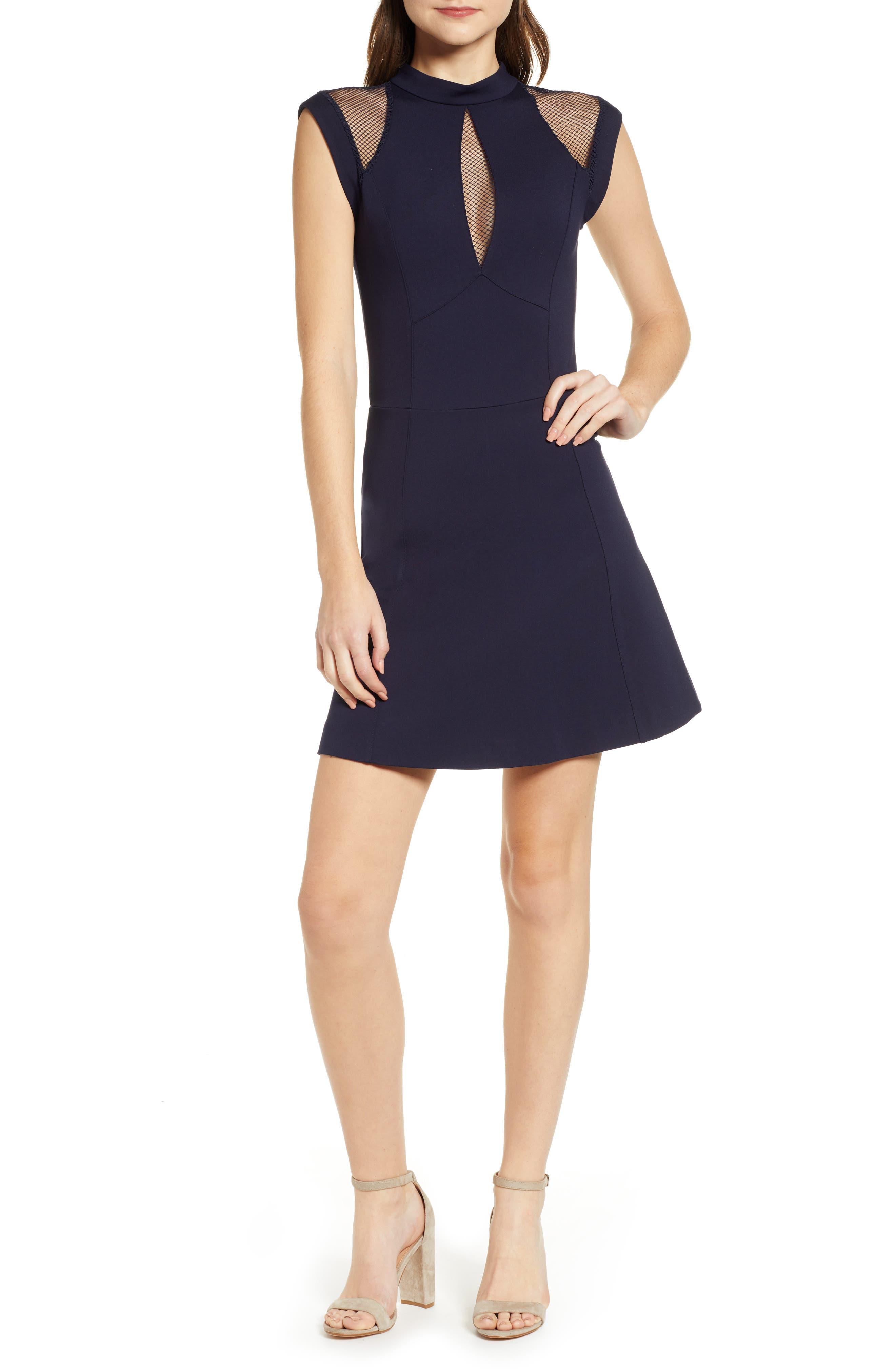Sentimental Ny Galactica Fit & Flare Dress, Blue