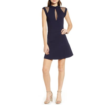 Sentimental Ny Galactica Fit & Flare Dress, Blue
