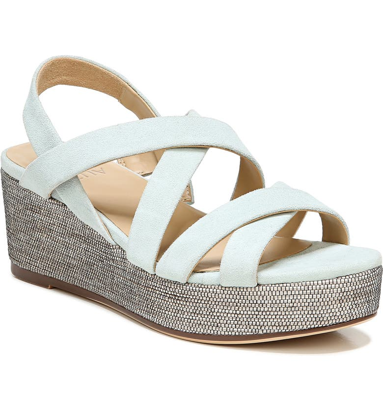 NATURALIZER Unique Platform Wedge Sandal, Main, color, SOFT MINT