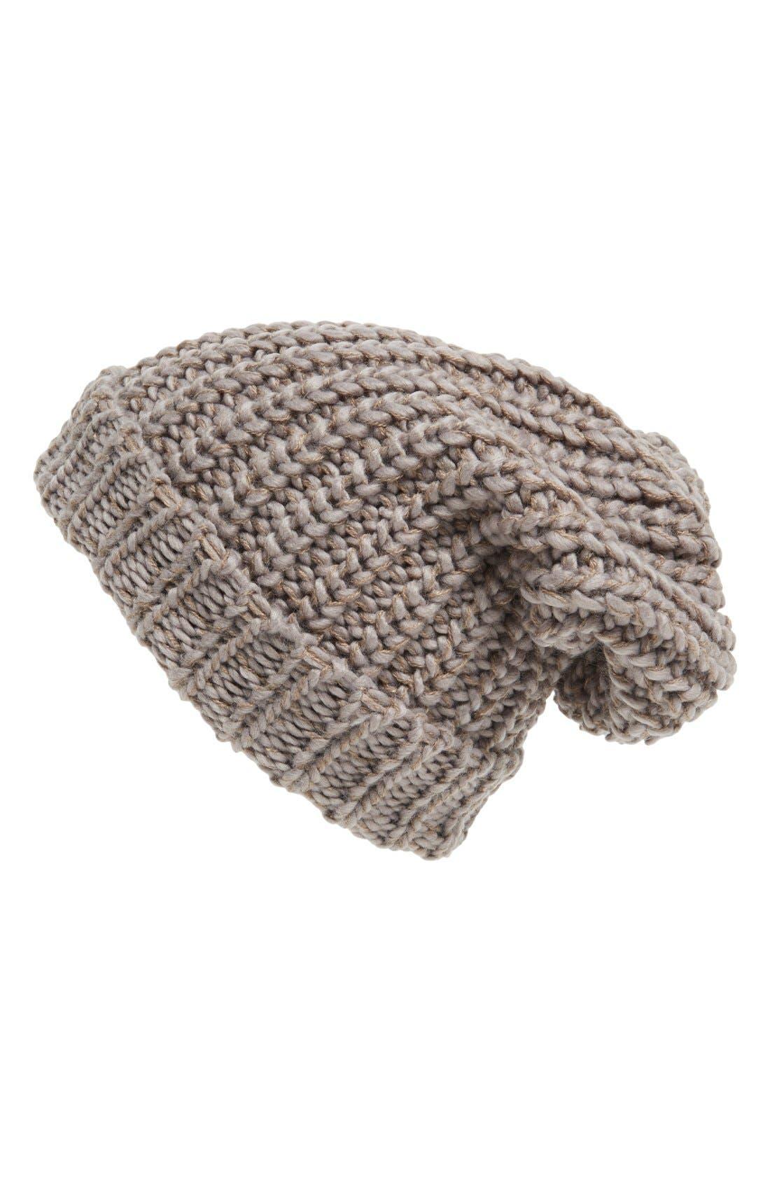 ,                             Chunky Rib Knit Beanie,                             Main thumbnail 7, color,                             235