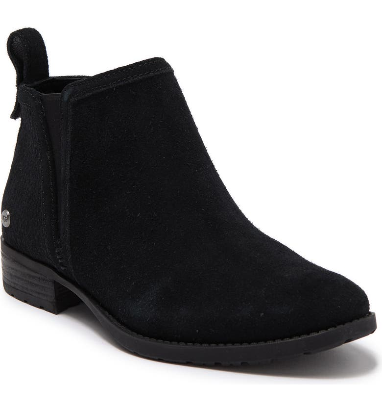UGG McClaire Leather Ankle Bootie, Main, color, BLK
