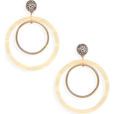 Lele Sadoughi Double Ring Hoop Earrings