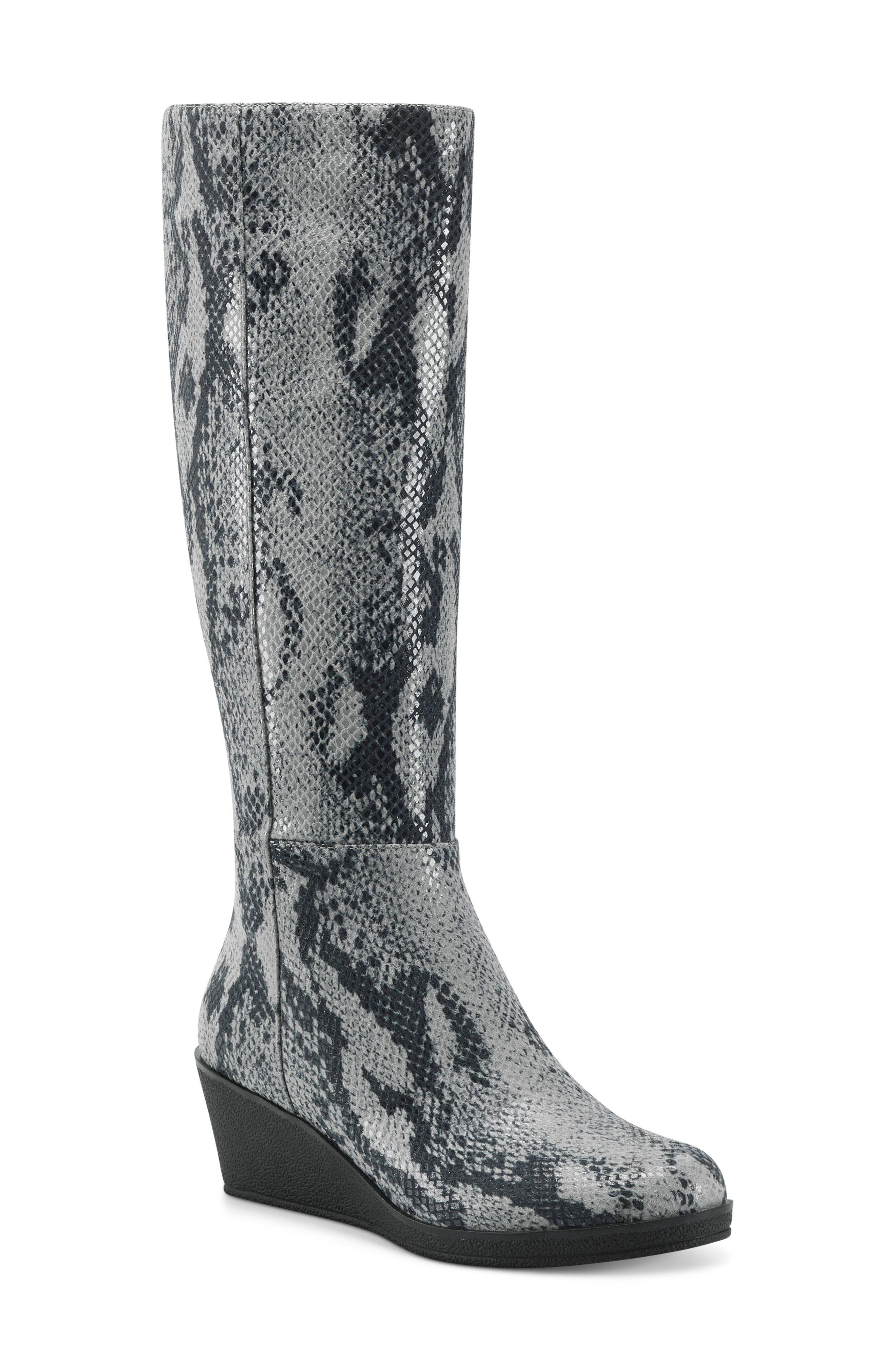 Brenna Knee High Wedge Boot