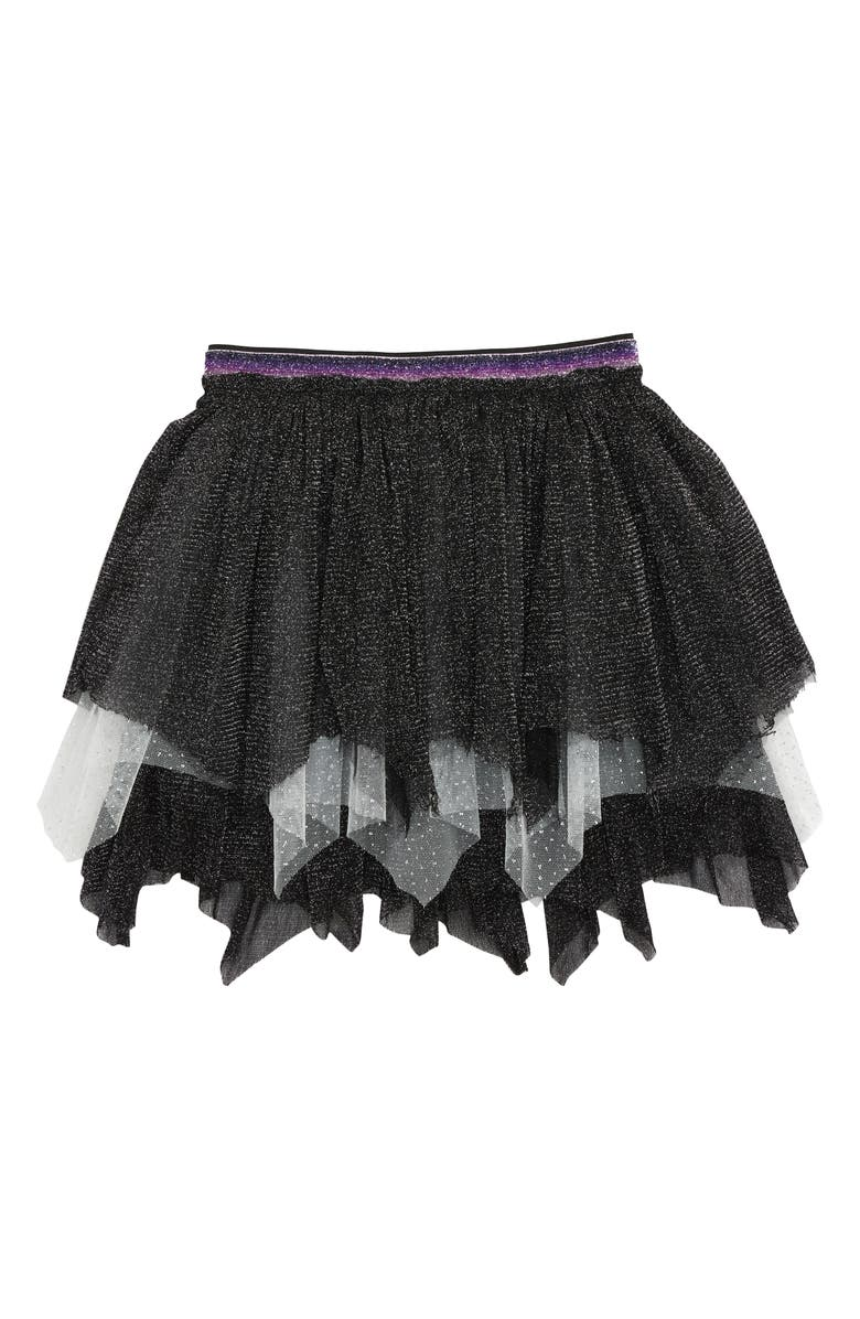 TRULY ME Glitter Hanky Skirt, Main, color, 007