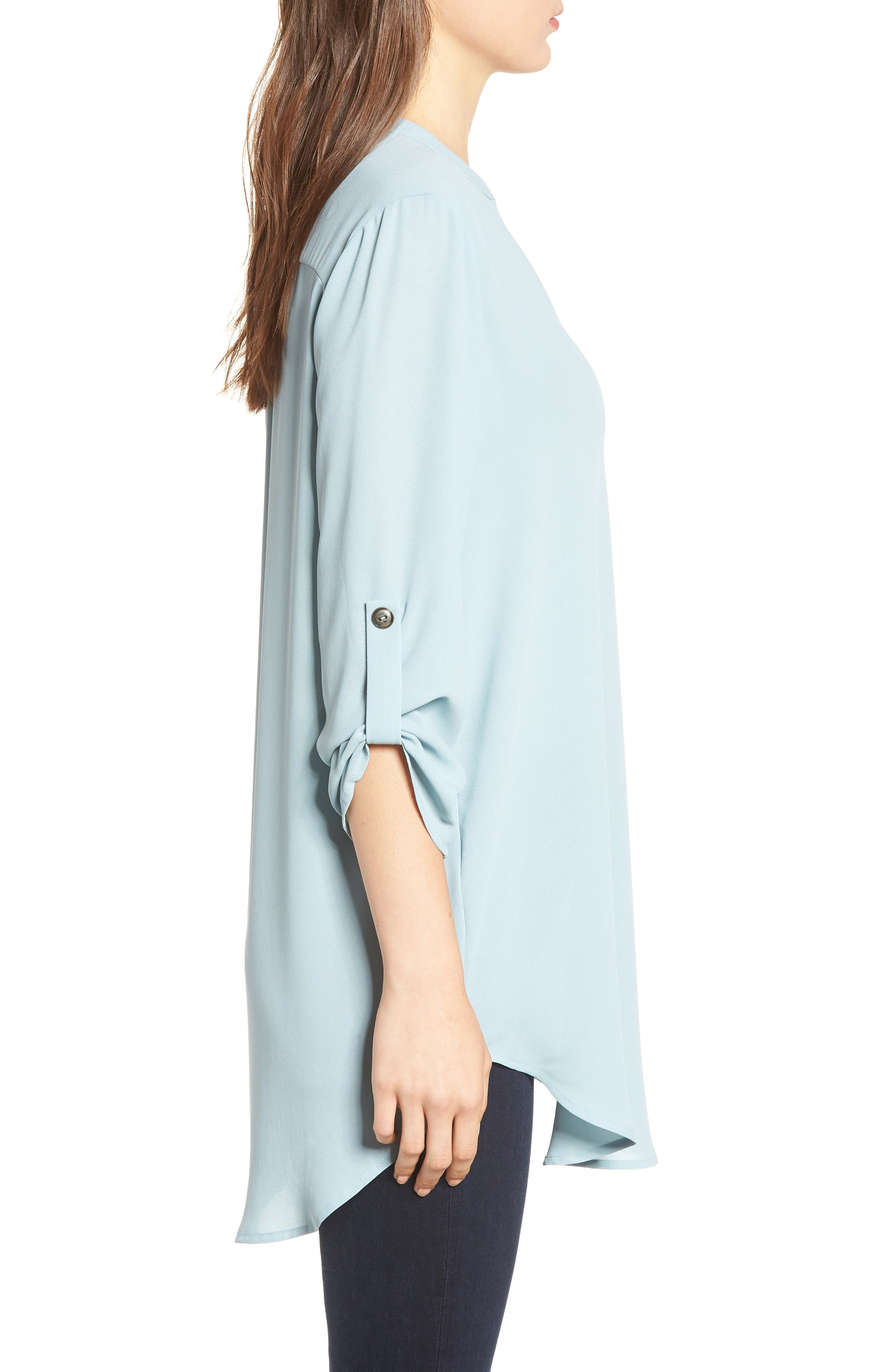 ,                             Perfect Roll Tab Sleeve Tunic,                             Alternate thumbnail 71, color,                             358