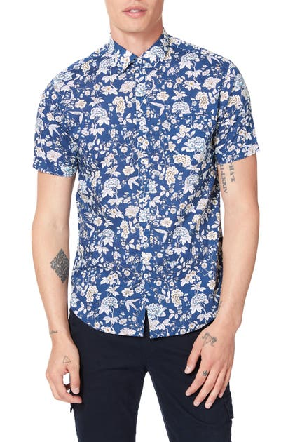 Good Man Brand T-shirts ON POINT SLIM FIT SHORT SLEEVE BUTTON-UP SHIRT
