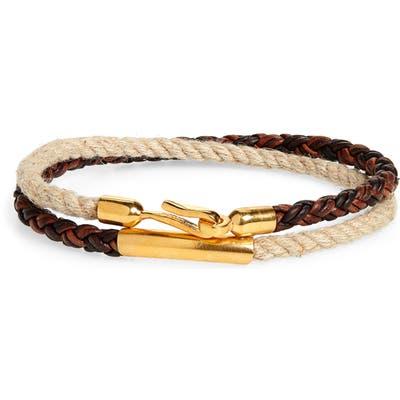 Caputo & Co. Braided Wrap Bracelet