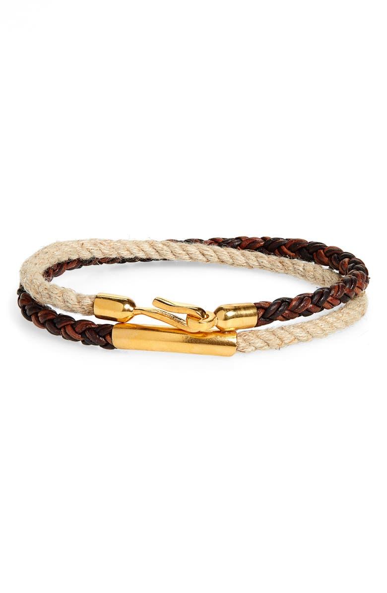 CAPUTO & CO. Braided Wrap Bracelet, Main, color, 209
